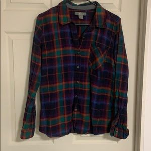 Natural Reflections plaid flannel size L